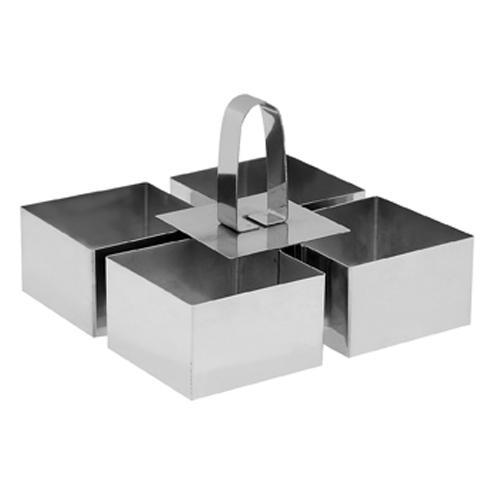 Τσέρκι Τετράγωνο Σετ 4τμχ (8cm)