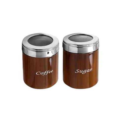 Δοχείο Καφέ-Ζάχαρη Σετ 2τμχ. (9x12cm) 9x14,5cm