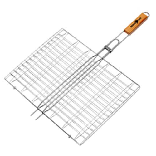 Σχάρα BBQ με Ξύλινη Λαβή 46x35