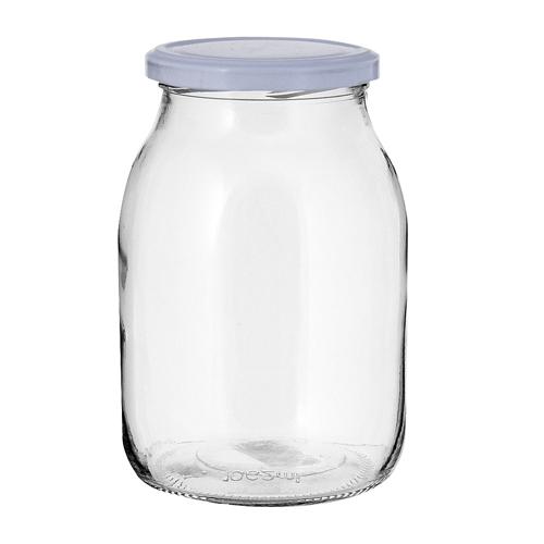 Βάζο γυαλ. Μετ.Πώμα 1700ml (2,4kg γλυκό)