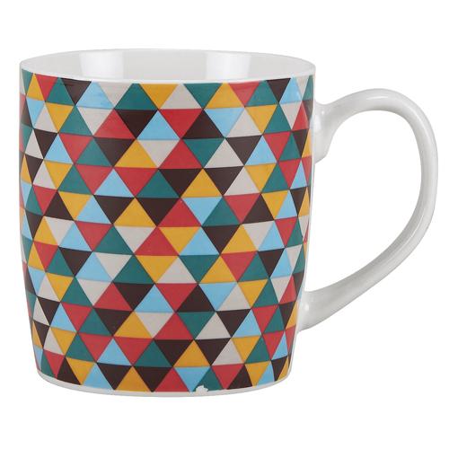 Κούπα Πορσελάνη 13οz Ν.320 VENUS -Πολύχρωμα τρίγωνα