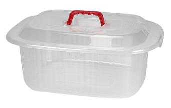 Κουτί Αποθήκευσης Πλαστικό με χέρι 8ltr