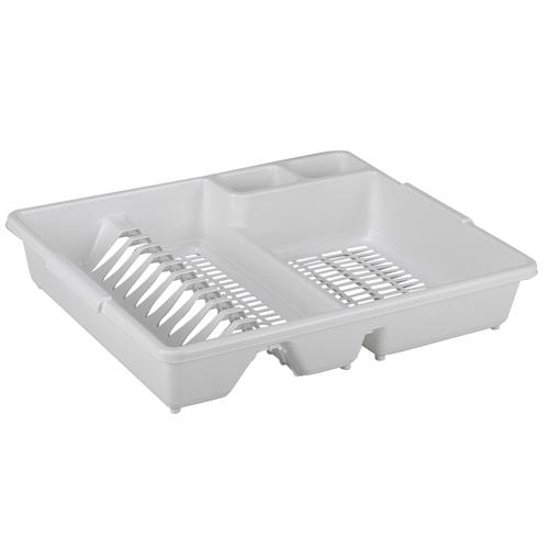 Πιατοθήκη με δίσκο Πλαστική (47x38x9)(Μπεζ - Λευκό - Ροζ ανοιχτό - Λαχανί )