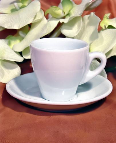 Φλιτζανάκι Espresso Με Πιατάκι Λευκό